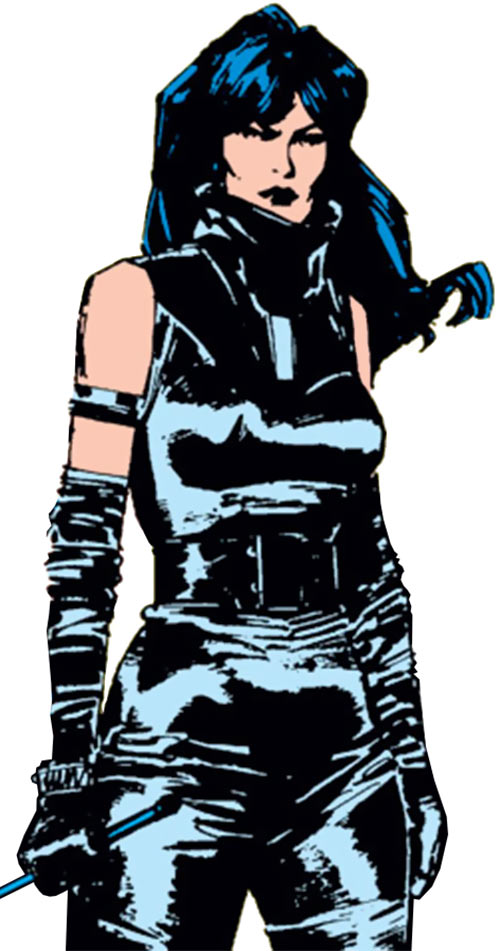 Selene the Black Queen (X-Men & New Mutants enemy) (Hellfire) (Marvel Comics) in black leather