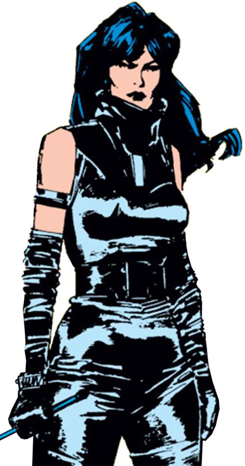 Selene the Black Queen (X-Men & New Mutants enemy) (Hellfire) (Marvel Comics) in black leather