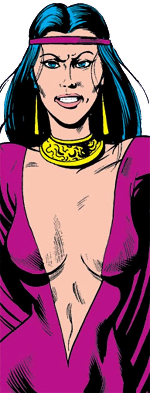 Selene the Black Queen (X-Men & New Mutants enemy) (Hellfire) (Marvel Comics) manic grin