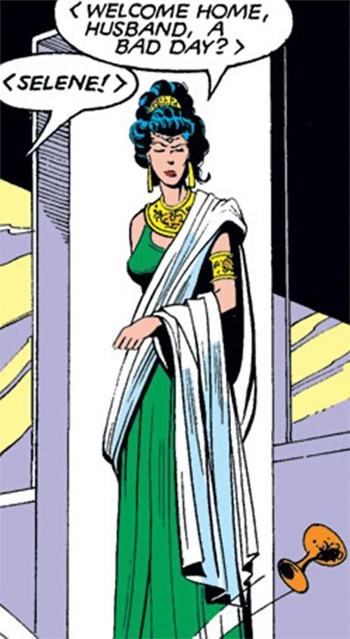 Selene the Black Queen (X-Men & New Mutants enemy) (Hellfire) (Marvel Comics) in Nova Roma garb