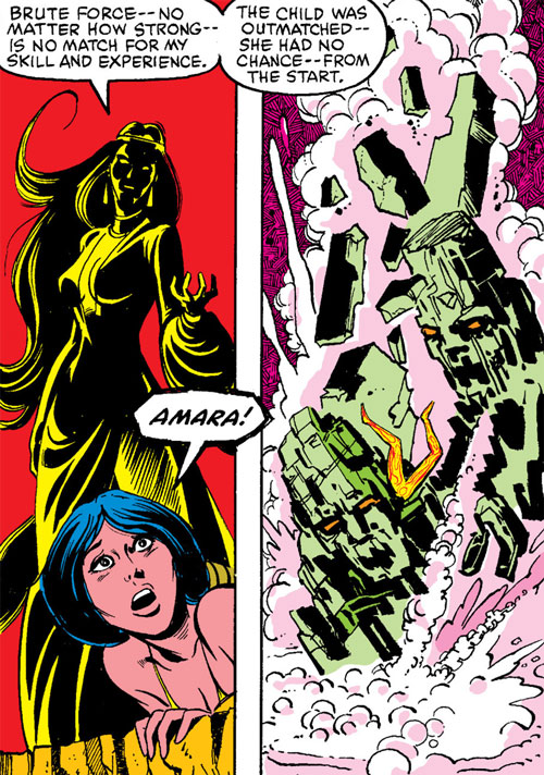 Selene the Black Queen (X-Men & New Mutants enemy) (Hellfire) (Marvel Comics) animating earth demons
