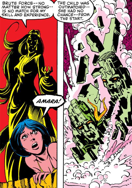 Selene the Black Queen (X-Men & New Mutants enemy) (Hellfire) (Marvel Comics) animating earth demons