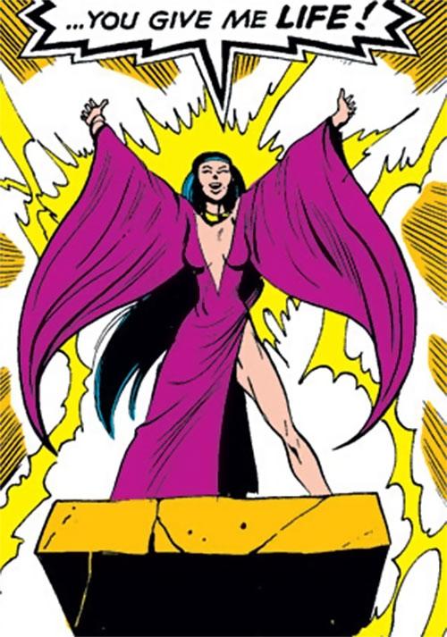 Selene the Black Queen (X-Men & New Mutants enemy) (Hellfire) (Marvel Comics) absorbing life force