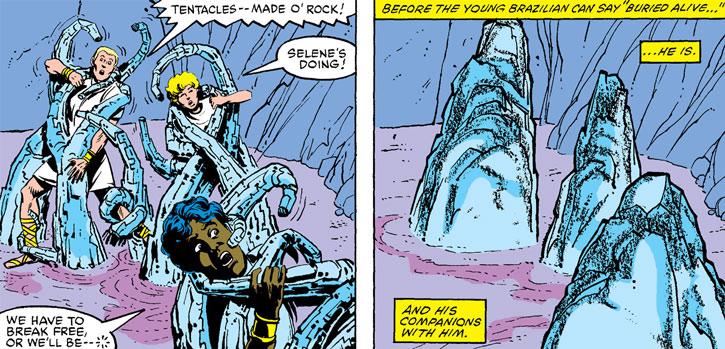 Selene (Black Queen) captures the New Mutants