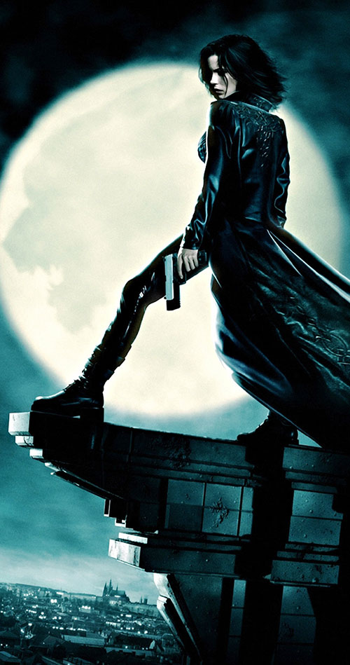 Selene (Kate Beckinsale in Underworld movies)