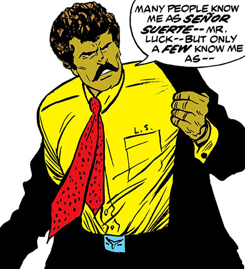 Senor Suerte Muerte (Luke Cage enemy) (Marvel Comics) in his civvies