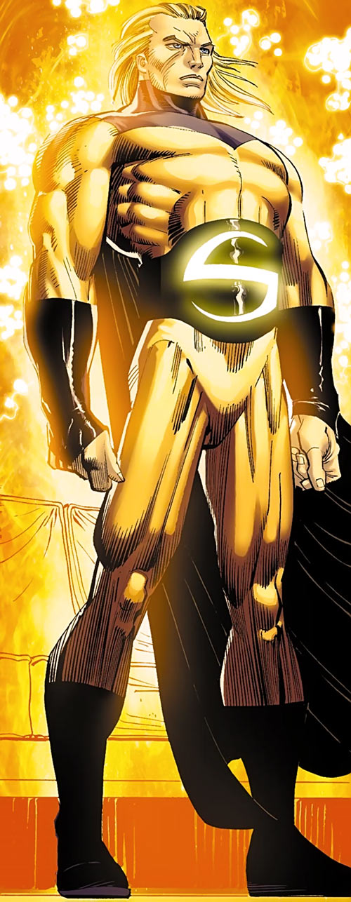 The Sentry (Marvel Comics) majestically glowing with energy