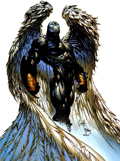 Spawn (Image Comics) with angelic wings