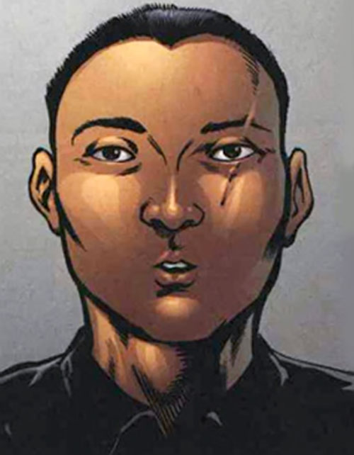 Sergeant Li of SHIELD (Fury MAX) (Marvel Comics) face closeup