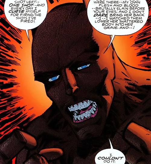 Sergeant Marvel of S.O.S. (Savage Dragon comics) face closeup