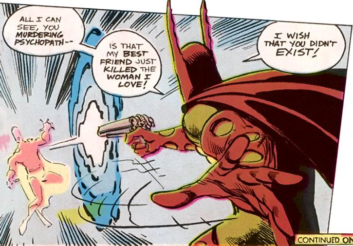 Sergeant Marvel fires the God Gun