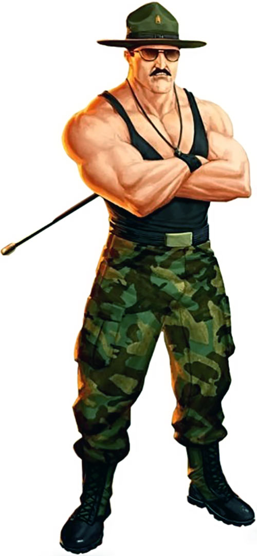 Sergeant Slaughter - GI Joe character - Full art