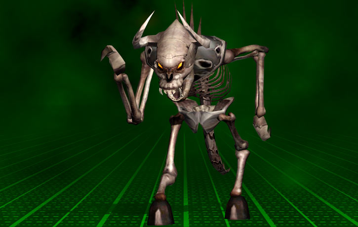 Kleer skeleton (Serious Sam video game) in a strange pose