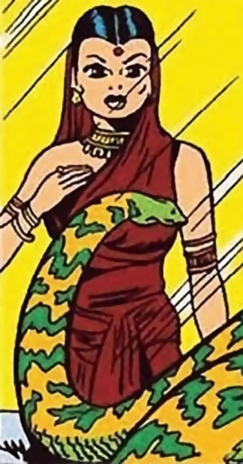 Serpent (Marvel Boy enemy) (Atlas comics) admiring a constrictor