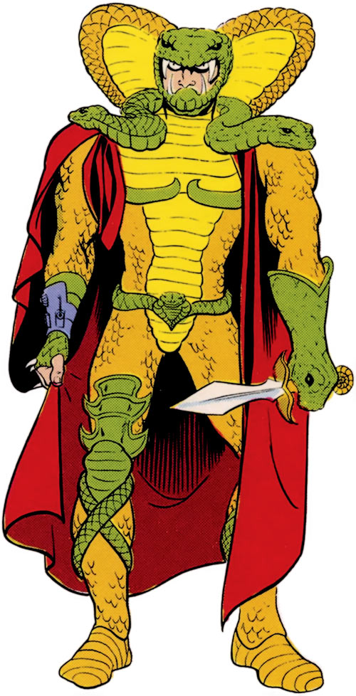Serpentor (G.I. Joe bad guy) during the 1980s.