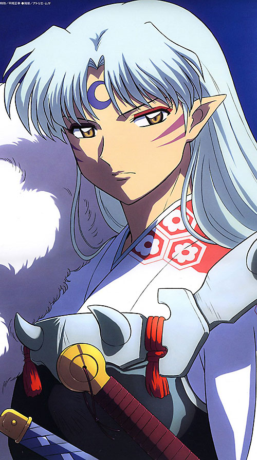 Sesshomaru (InuYasha enemy) color face closeup