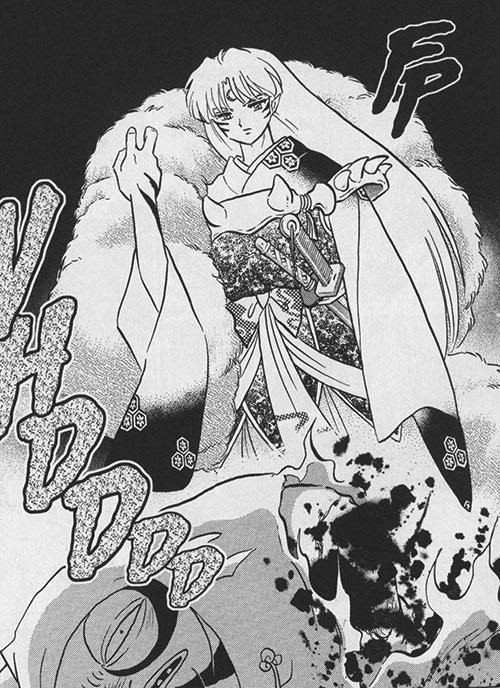 Sesshomaru (InuYasha enemy) kills a frog creature