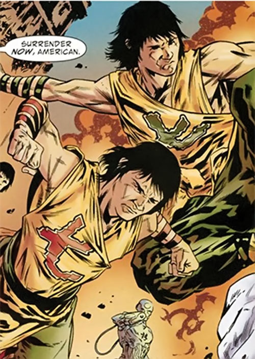 7 Deadly Brothers of the Great 10 (DC Comics) in battle
