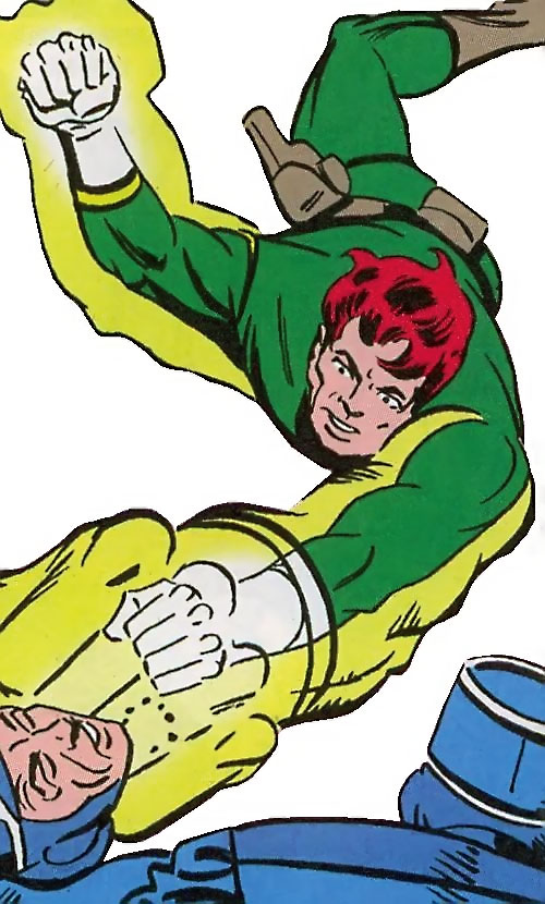 Shade the Changing Man (Steve Ditko) (DC Comics) in a green uniform