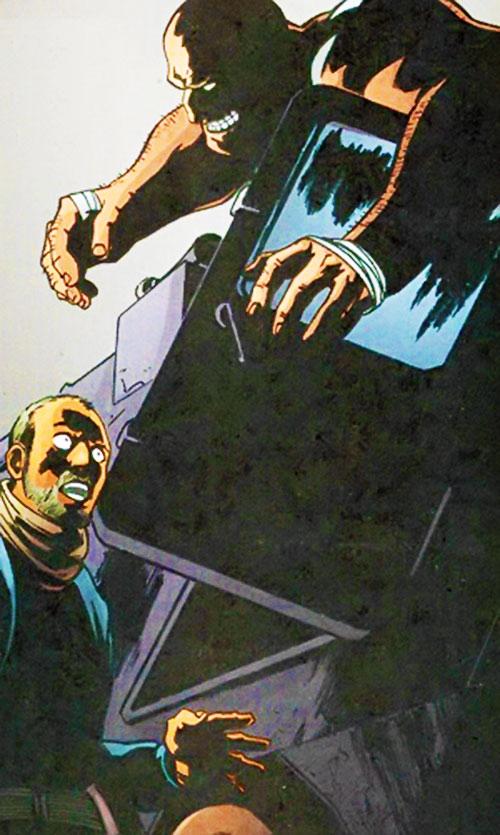 Shadow Boxer (Fallen Angel comics) stalking a man