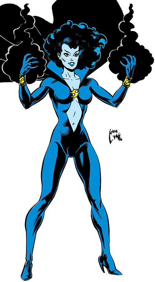 Shadow Lass (DC Comics) by Steve Lightle in the Who's Who
