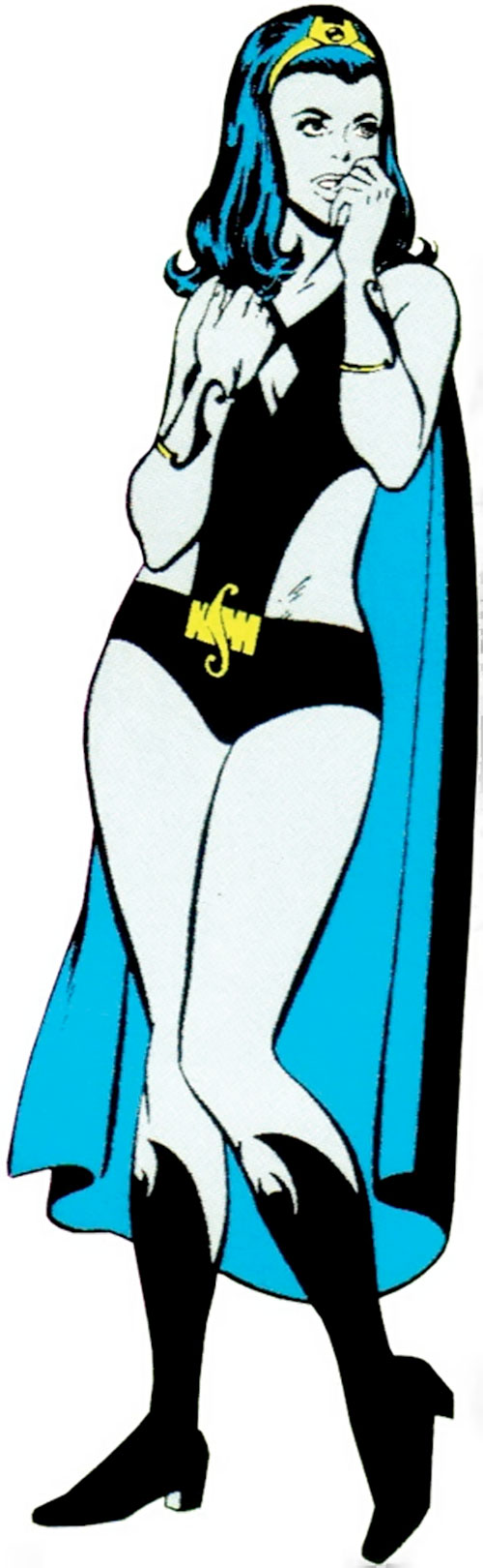 Shadow Lass of the Legion of Super-Heroes (pre-boot DC Comics) during the Silver Age