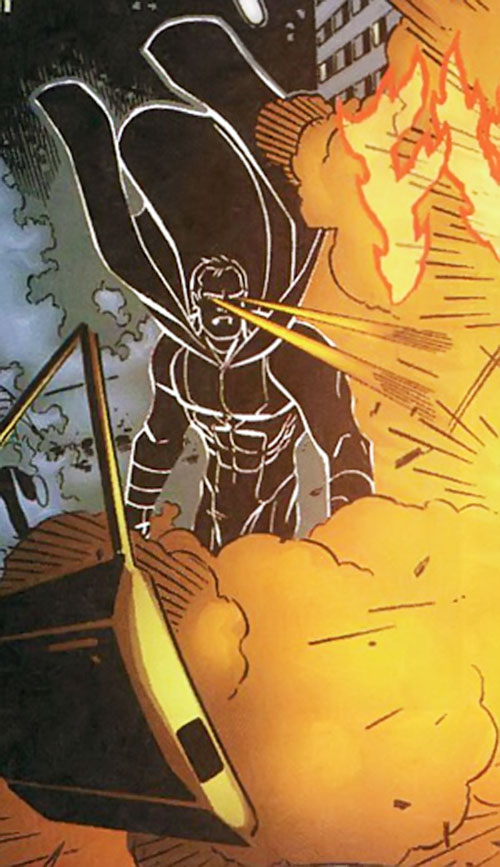 Shadow Supreme (Wildstorm Comics by Alan Moore) using his heat vision