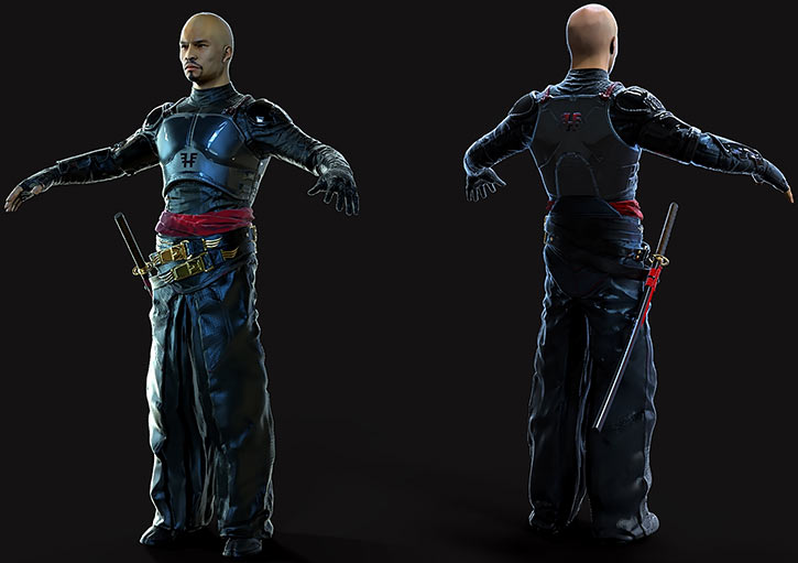 Lo Wang - Shadow Warrior 2013 video game reboot - Model rotation concept art