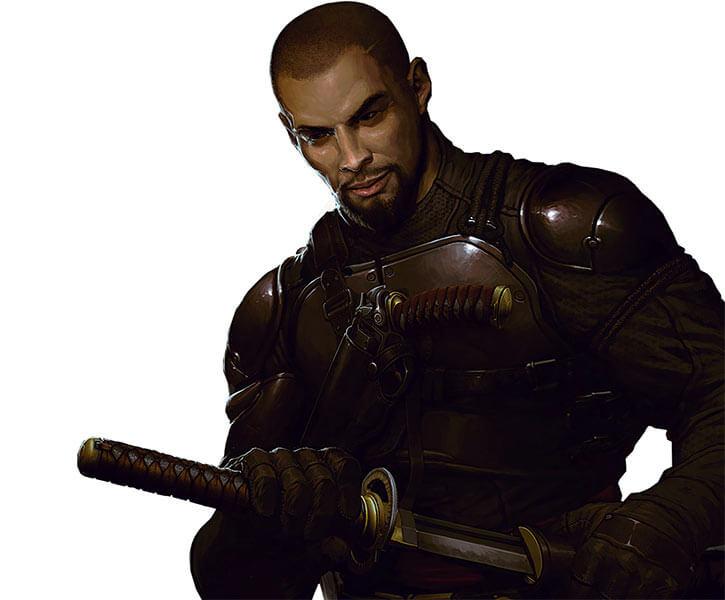 Lo Wang - Shadow Warrior 2013 video game reboot - Concept art sword pistol
