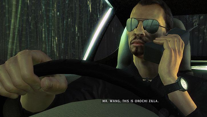 Lo Wang - Shadow Warrior 2013 video game reboot - Driving phone