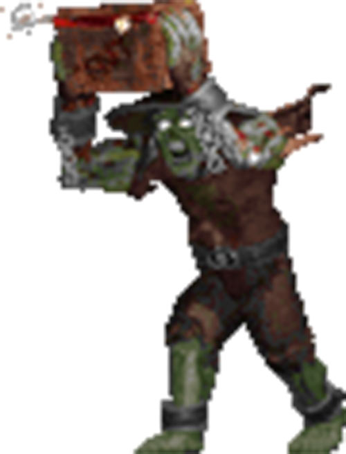 Coolie zombie (Shadow Warrior) with explosives crate - sprite