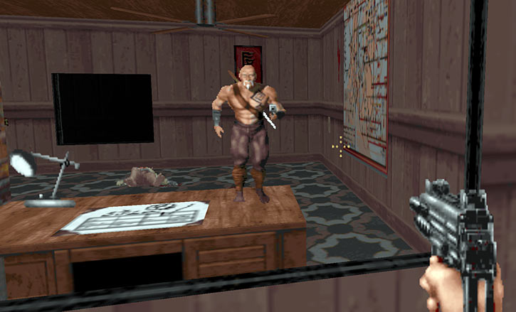Original Shadow Warrior video game - Playable character in mirror