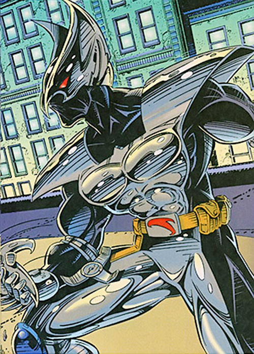 ShadowHawk (Image Comics) on the rooftops