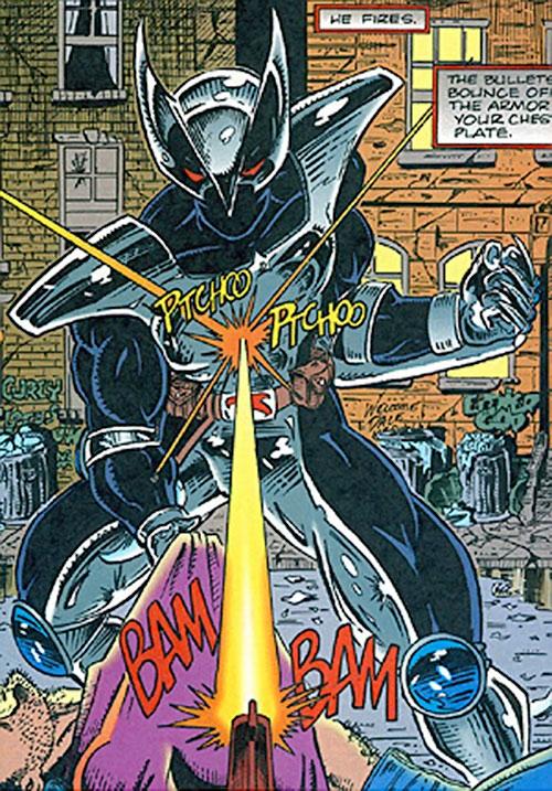 ShadowHawk (Image Comics) ignoring gunfire