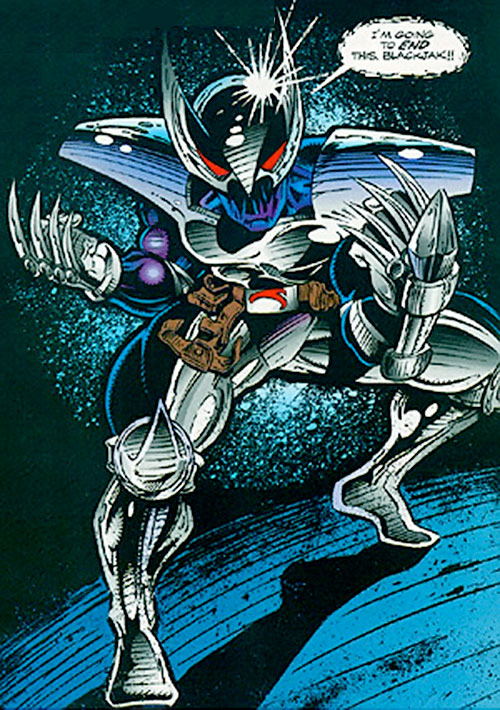 ShadowHawk (Image Comics) with claws out