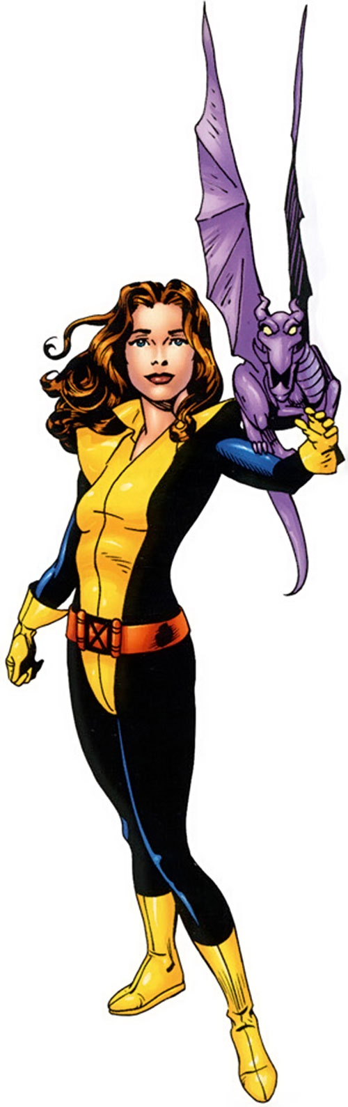 Shadowcat of the X-Men (Kitty Pryde) (Marvel Comics) with Lockheed perched on her arm