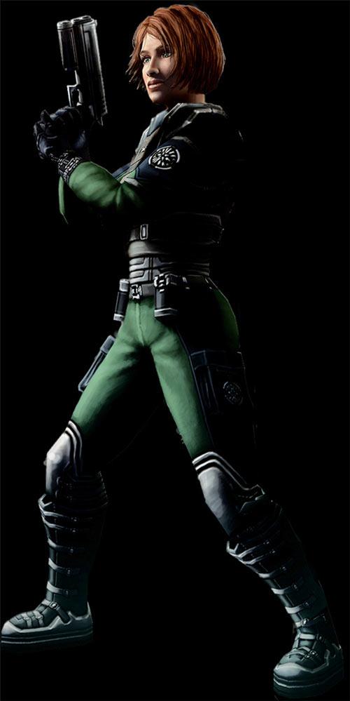 Jane Arwyn (Shadowgrounds video game) black background