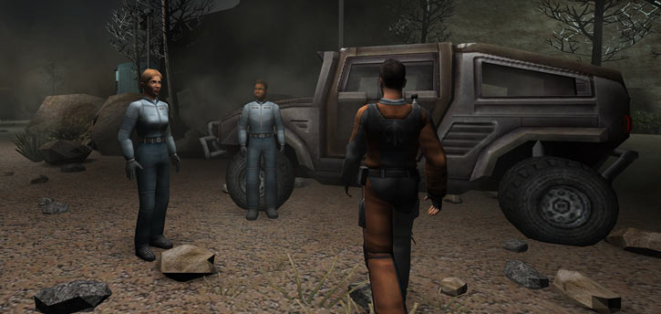 Shadowgrounds video game - Tyler and his mechanics