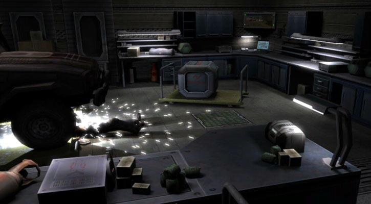 Shadowgrounds video game - Tyler welding underneath a car