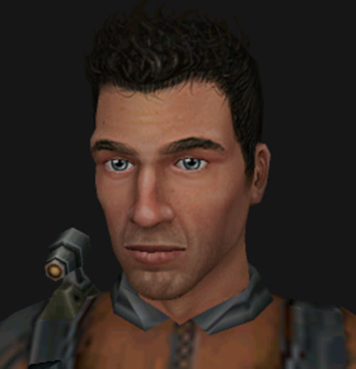 Shadowgrounds video game - Tyler face closeup