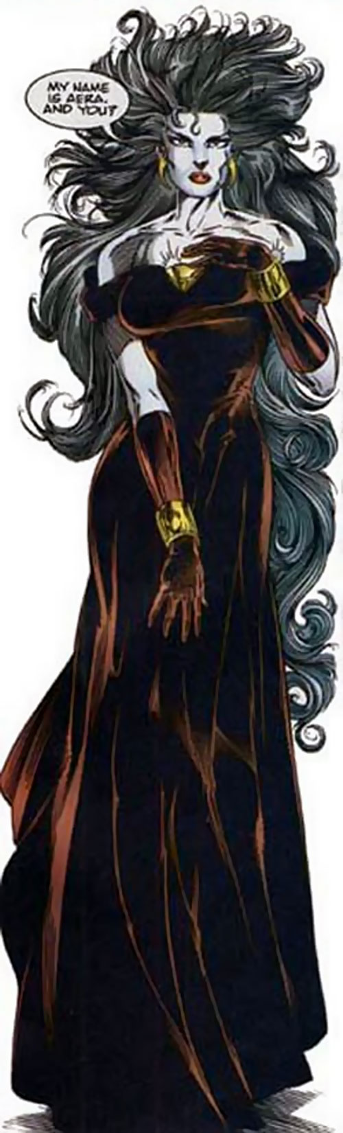 Shadowmage of the Solution (Ultraverse Malibu comics) in an elegant dress