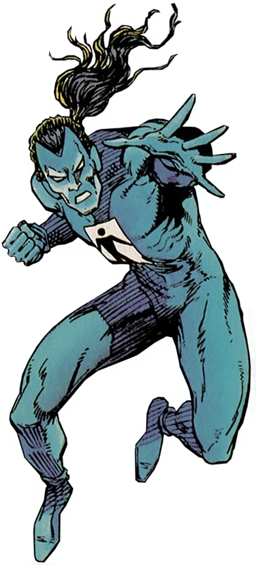 Shadowman (original Valiant Comics 1990s) early blue costume