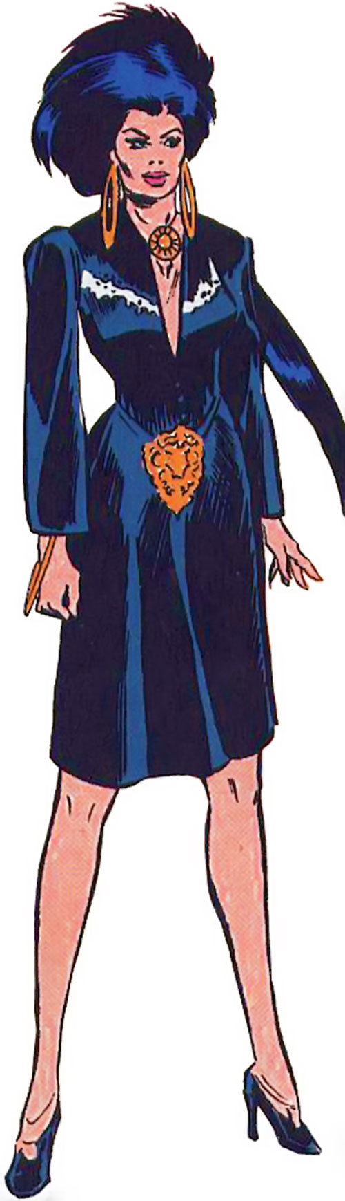 Shadowoman of the Secret Defenders (Marvel Comics) in a black gothy dress