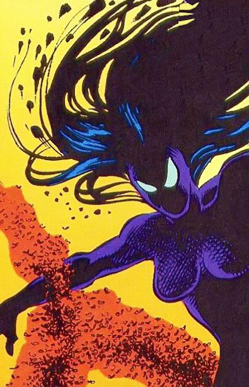 Shadowoman of the Secret Defenders (Marvel Comics) in shadow form