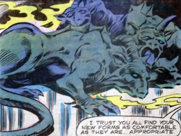 Gargoyles in the Shadow Queen's dimension