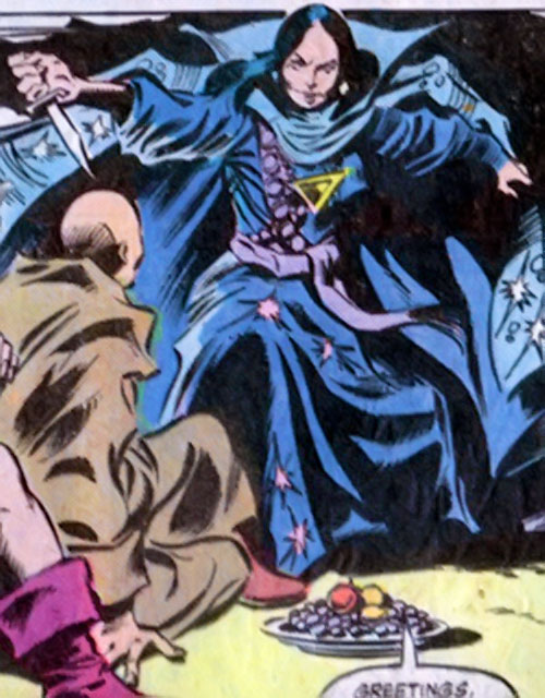 Shadowqueen (Doctor Strange enemy) (Marvel Comics) with a knife