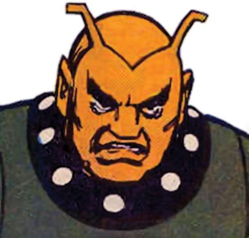 Shagrek of the Taurus Gang (Legion of Super-Heroes enemy) (DC Comics) face closeup