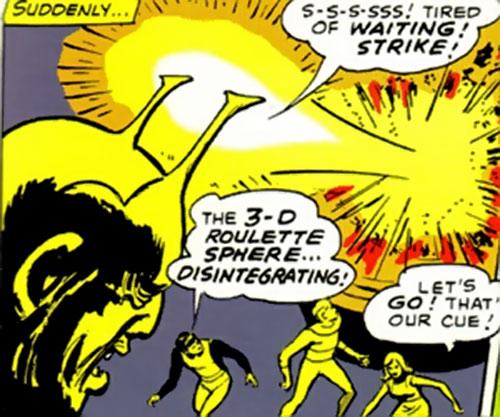 Shagrek of the Taurus Gang (Legion of Super-Heroes enemy) (DC Comics) striking