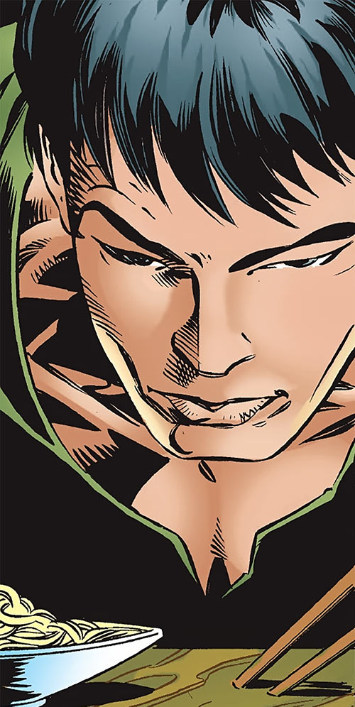 Shang-Chi the Master of Kung Fu (Marvel Comics) face closeup