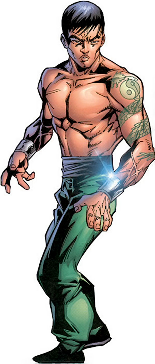 Shang-Chi the Master of Kung Fu (Marvel Comics) with arm dragon tattoo